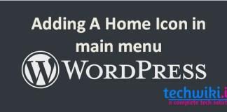 adding a icon in main menu wordpress