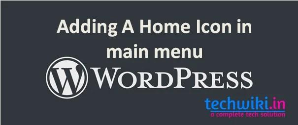 wordpress menu icons