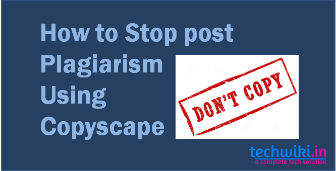 stop post plagiarism
