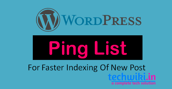 wordpress ping list