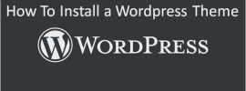 wordpress theme installation