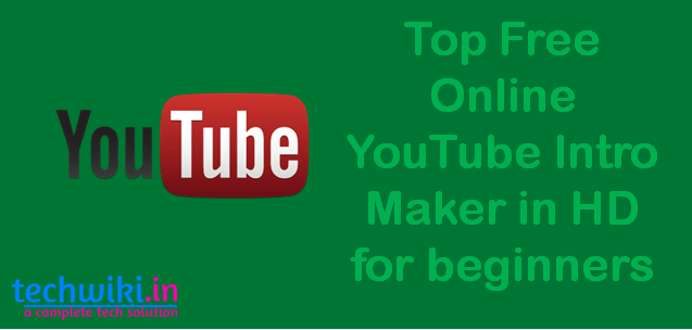 online youtube intro maker
