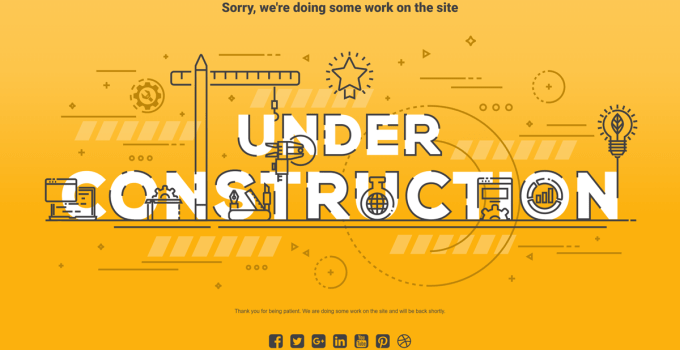 wordpress under construction plugin