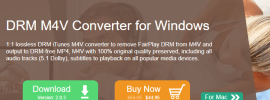 DRM M4V Converter for Windows