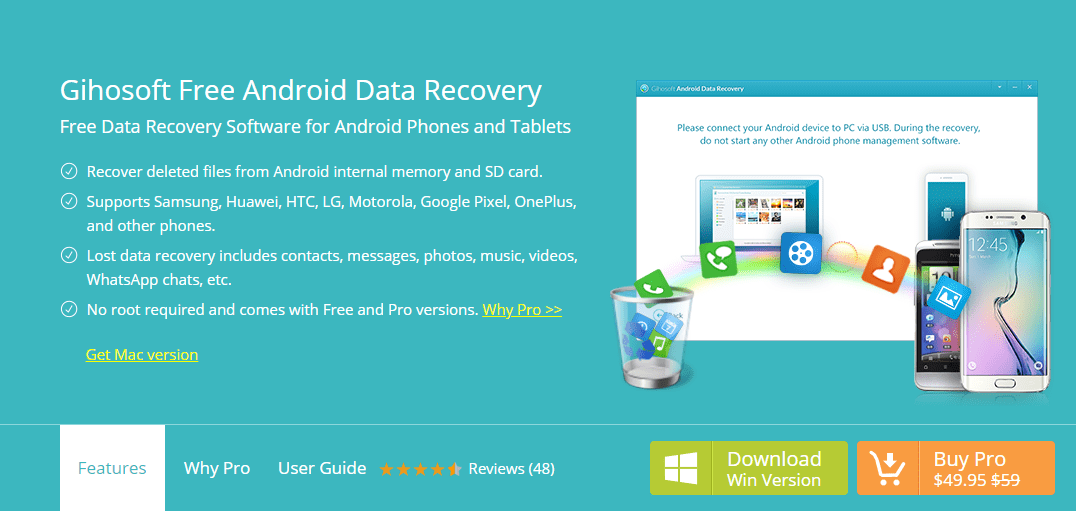 Gihosoft Free Android Data Recovery - file recovery tool for