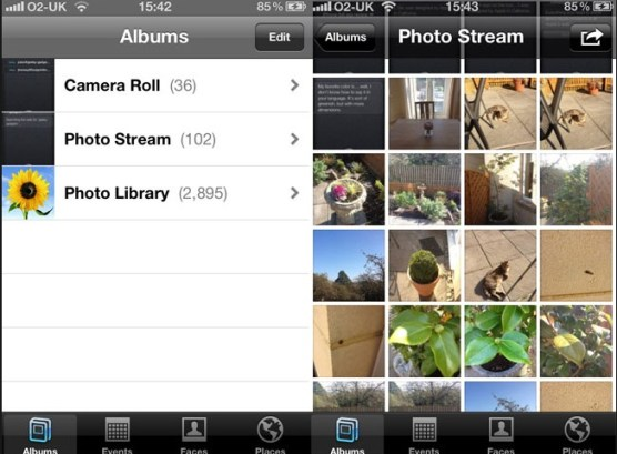 Stream Photos on iPhone