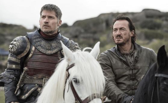 Jaime Lannister (Nikolaj Coster-Waldau) and Bronn (Jerome Flynn) in 'Spoils of War'
