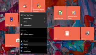 Windows Jumplists: programs with a convenient context menu