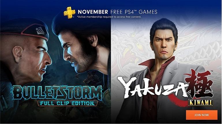 Yakuza Kiwami and Bulletstorm land in November with PS Plus