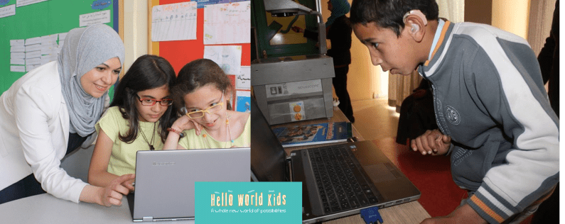 Hanan Khader, 2013 TechWomen fellow, founded Hello World Kids to develop curriculum to teach programming to kids as young as 8.