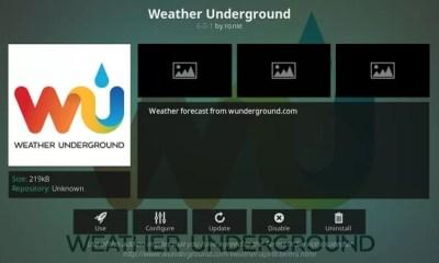 Weather Underground Kodi Add-On