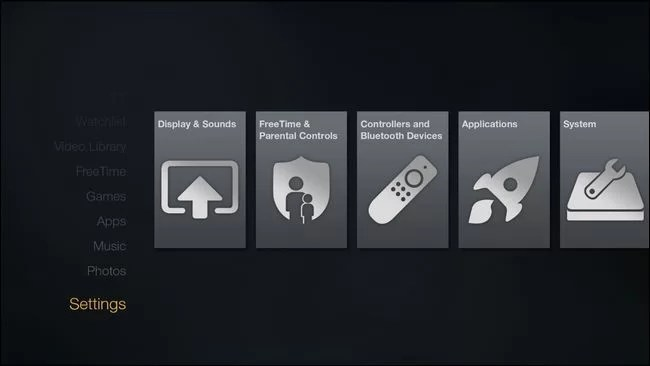 Resetting Fire TV through Settings