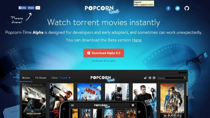 Connecting Popcorn Time for Chromecast