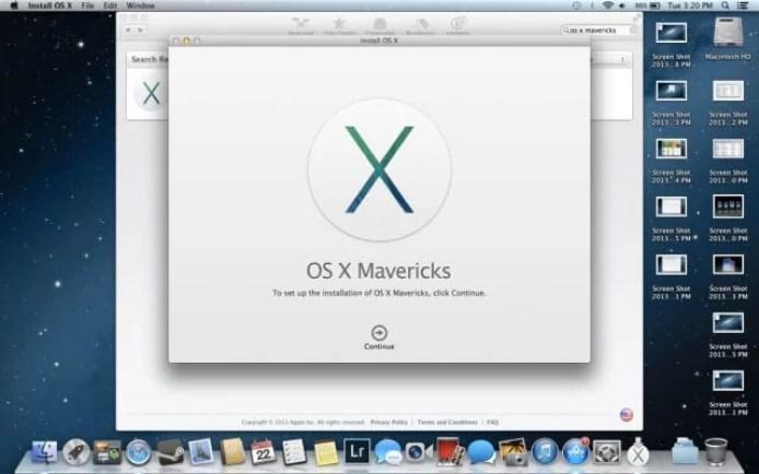 Version 10.9 Mavericks