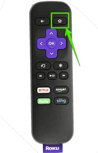 Roku Home Button on Remote
