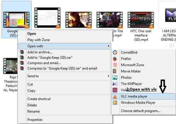 How to rotate videos in vlc player in 5 steps select the video that you want to rotate and open it with vlc media player by right clicking it and select open with vlc player ccuart Images