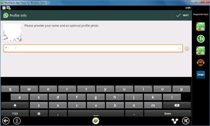 Configuring Whatsapp 5
