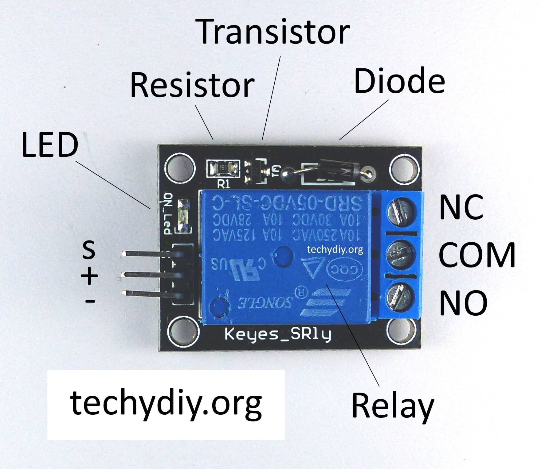 hight resolution of keyes sr1y relay module photo with labels