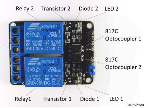 small resolution of opto isolated 2 relay module components