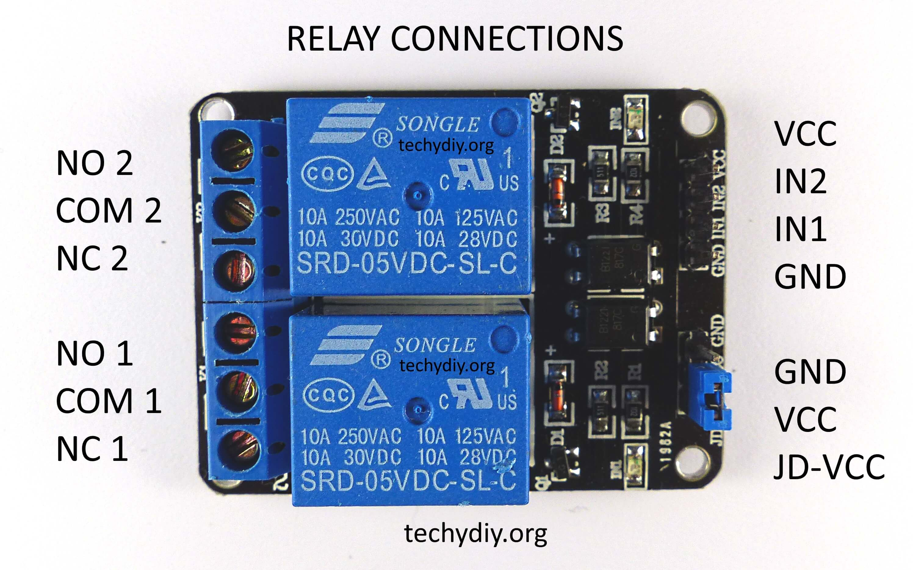 switch loop wiring diagram animal cell labeled opto isolated dual relay module (arduino) | techydiy