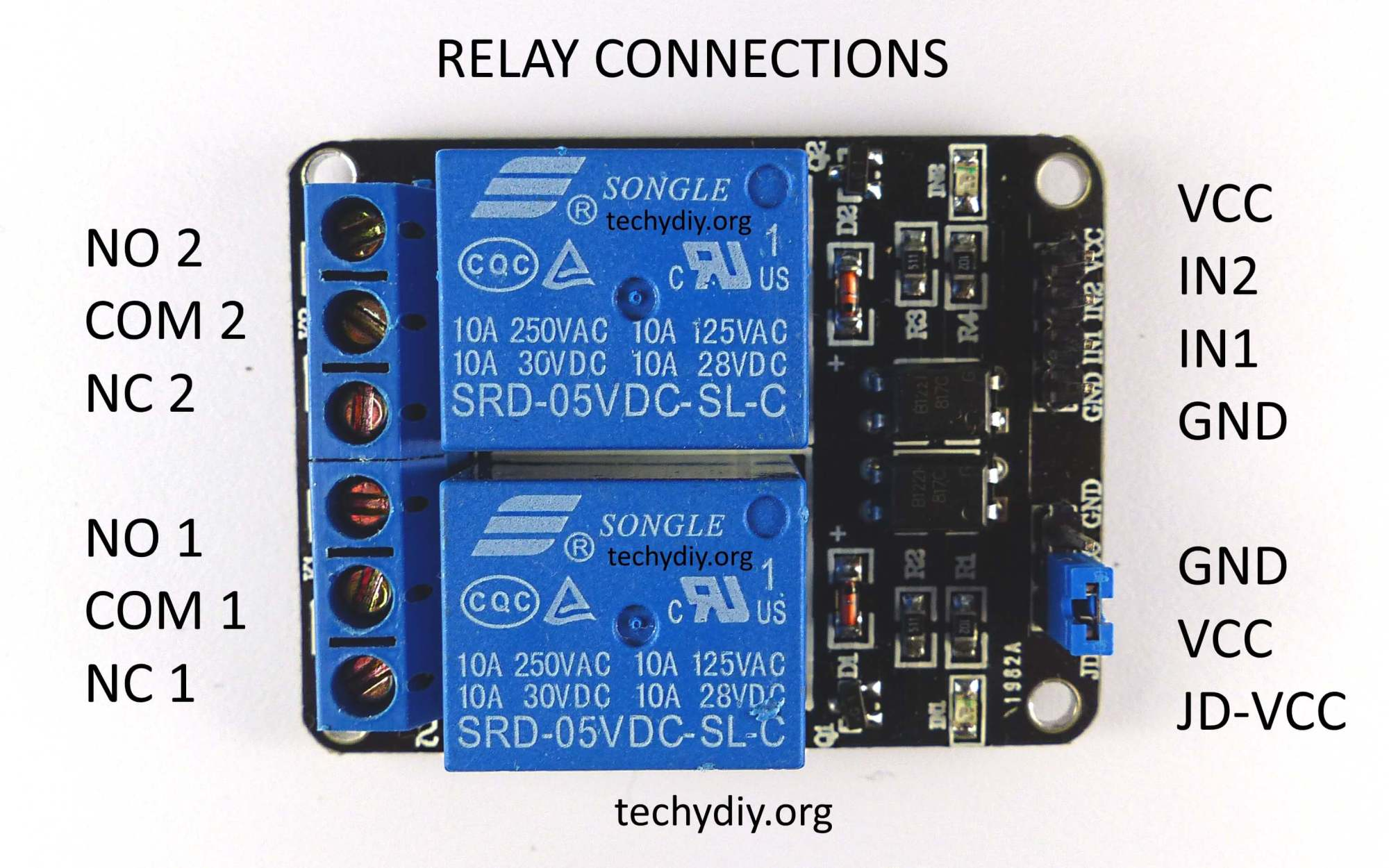 hight resolution of opto isolated 2 relay module connections