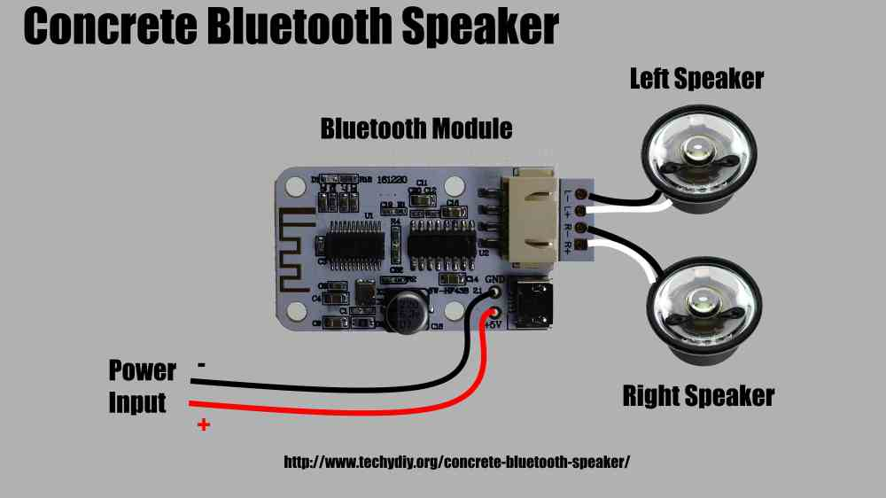 medium resolution of concrete bluetooth speaker wiring diagram