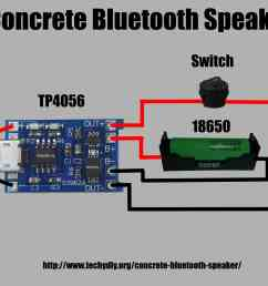 concrete bluetooth speaker power wiring diagram [ 4000 x 2248 Pixel ]