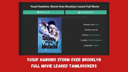 Yusuf Hawkins Storm Over Brooklyn Full Movie Leaked Tamilrockers