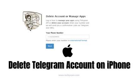 Delete Telegram Account on iPhone