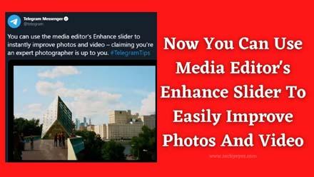 Media Editor's Enhance Slider
