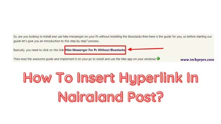 Insert Hyperlink In Nairaland Post