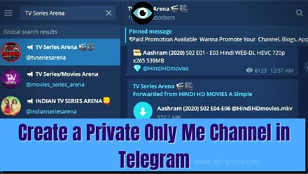 Create a Private Only Me Channel in Telegram