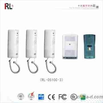 RL-0510C-3 2.4 GHz Wireless Door phone/ Three-way Door Phone