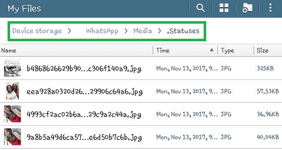 save whatsapp video status