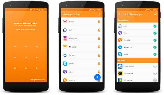 Lock SMS Messages Android Apps