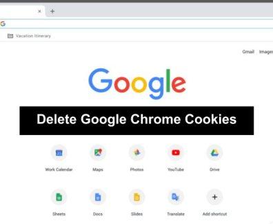 delete cookies in google chrome