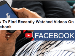 how to find recently watched videos on facebook