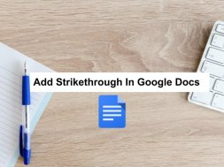 strikethrough in google docs
