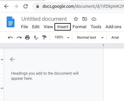insert degree symbol in google docs