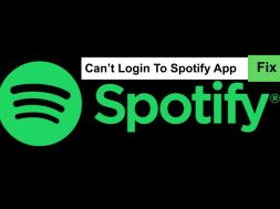 can't login spotify app