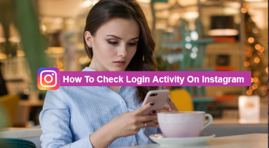 how to chweck log in activity on instagram