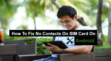 how to fix no contacts on SIM on android