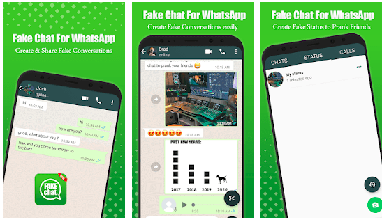 fake text messages app