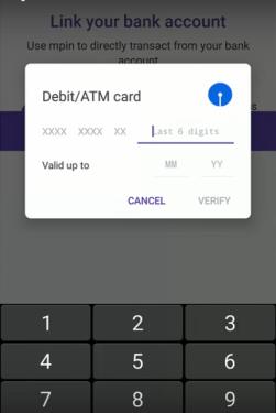 AtM Card Detail