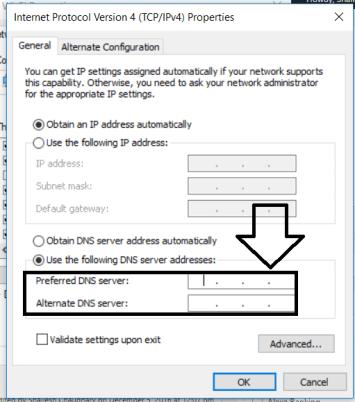 custom DNS Address