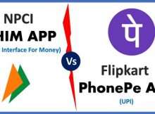 BHIM App vs PhonePe App