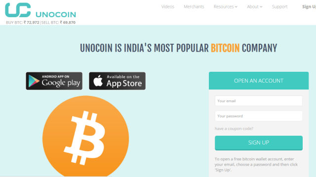 unocoin Buy & Sell Bitcoins Online