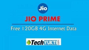 Reliance Jio Prime Member Ko Milega Free 120GB 4G Internet