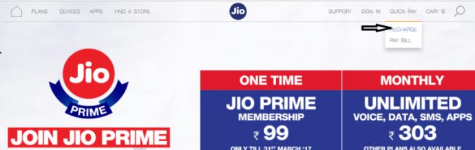 jio prime membership recharge