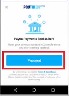 Paytm Payment Bank Account Open